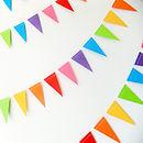 Rainbow Mini Paper Bunting