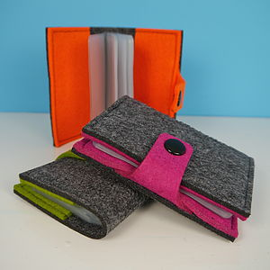 Grey Felt Card Wallet - bags & purses