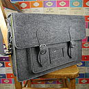 Large Felt Satchel In Three Colour Options