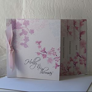 Blossom Wedding Stationery Collection - invitations