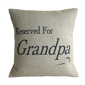 'Reserved For…' Cushion - living room