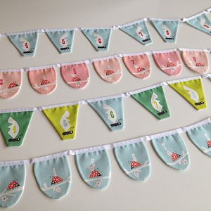 Ant Or Ladybird Pre School Number Bunting - baby's room