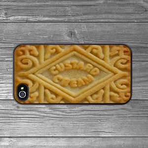 Custard Cream Biscuit IPhone Case - phone & tablet covers & cases