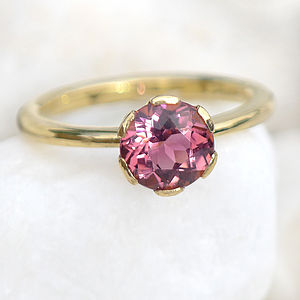 Tourmaline Ring In 18ct Gold Handmade To Size - unique engagement rings