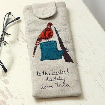 Personalised Glasses Case Pheasant