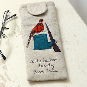 Personalised Glasses Case Pheasant - men's accessories