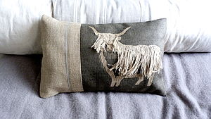 Highland Cow Large Cushion - cushions