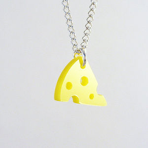 Mini Cheese Necklace - necklaces & pendants