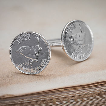 Silver Lucky Farthing Cufflinks