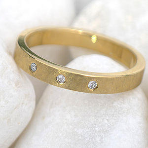 Urban Diamond Ring In Yellow/Rose 18ct Gold - rings