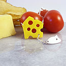 Mouse And Cheese Necklace