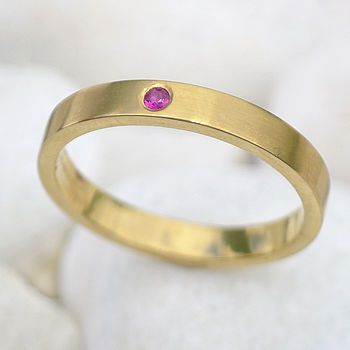 Ethical Ruby Ring In 18ct Gold