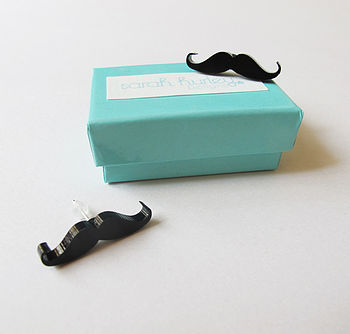 Moustache Earrings