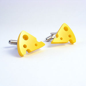 Cheese Cufflinks - men's accessories