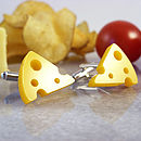 Cheese Cufflinks on Cheese Board Close Up