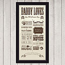 Personalised 'Dad Loves' Circus Poster Print