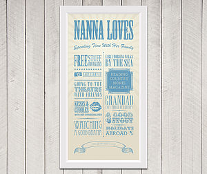 Personalised 'Grandma Loves' Circus Print