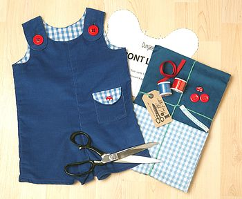 make and sew for baby dungarees sewing kit