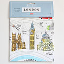 'Map Of London' Tea Towel