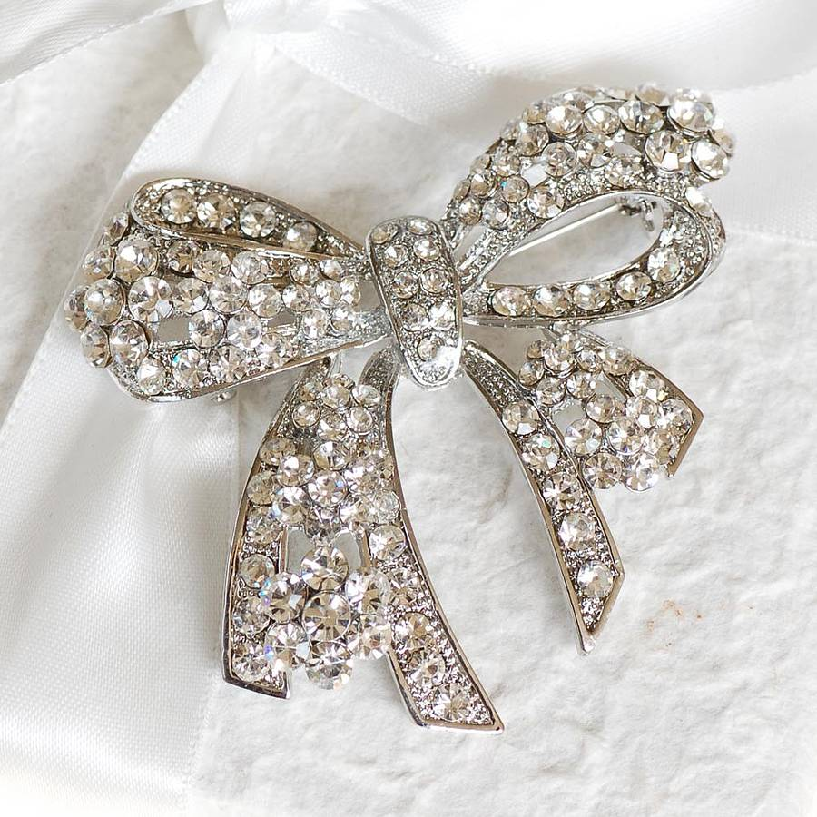 vintage style bow brooch by highland angel ...