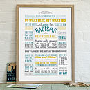 'Dadisms' Personalised Print For Dad