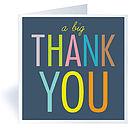 Six 'Big Thank You' Cards