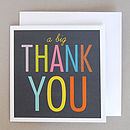 Six 'Big Thank You' Cards