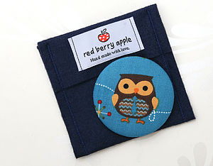 Owl Handbag Mirror And Felt Pouch - beauty accessories