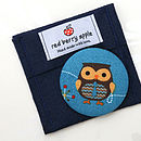 Owl Handbag Mirror And Felt Pouch, Teacher Gift