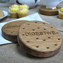 Chunky Oak Digestive Biscuit Coasters