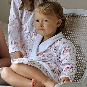 Blossom Red Dressing Gown - children's nightwear