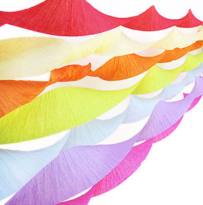 Set Of Three Crepe Paper Streamers - bunting & garlands