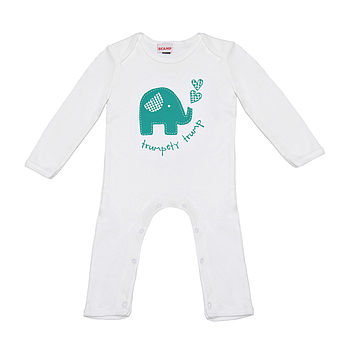 Trumpety Elephant Romper Suit