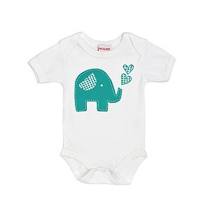 Trumpety Trunk Screen Printed Baby Grow - gifts for babies