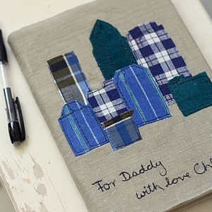 Personalised Skyline Notebook - gifts for fathers