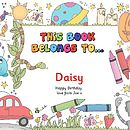 Personalised Colouring & Activity Book