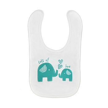 Lots Of Love Elephant Bib