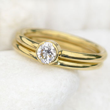 Handmade Diamond Ring Set In 18ct Gold