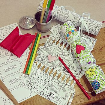 Personalised Colour In Christmas Cracker Kit