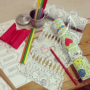 Personalised Colour In Christmas Cracker Kit - christmas craft ideas
