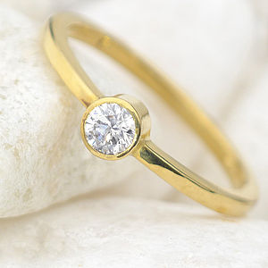 Diamond Engagement Ring In Ethical 18ct Gold - women's jewellery