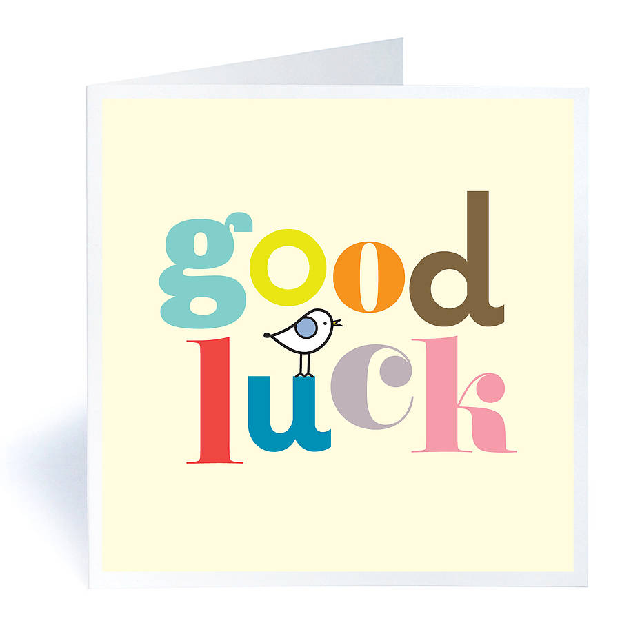 Dress Womens Clothing Good Luck Cards