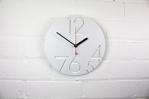 12 Zero Clock Modern Wall Clock - clocks
