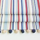 Blue Striped Roman Blind