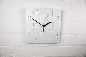 Square Zero Clock Modern Wall Clock - bedroom