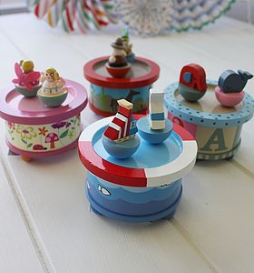 Wooden Ship Music Box - toys & games