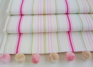 Pink Striped Roman Blind - curtains & blinds