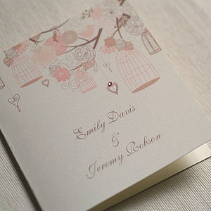 Folded Summer Wedding Invitations - wedding stationery