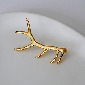 Gold Antler Brooch - pins & brooches