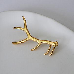Gold Antler Brooch
